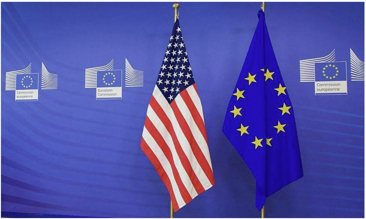 EU and US flag