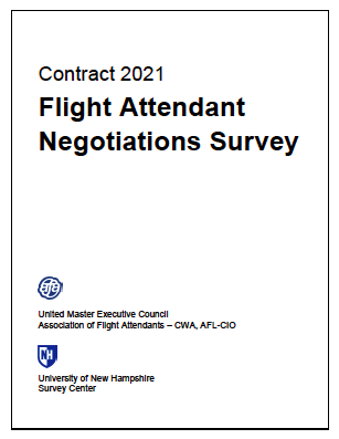 Contract 2021 Flight Attendant Survey Opens Monday, January 20