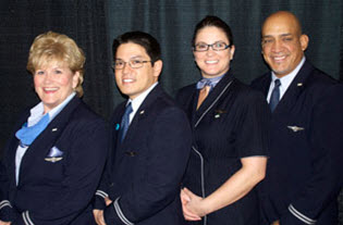 Meet and Greet for Continental and United Flight Attendants